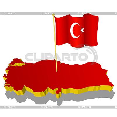 국기 터키의 3 차원 이미지 맵 | 벡터 클립 아트 |ID 3244328