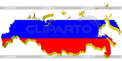 3D mapa Rosji | Klipart wektorowy |ID 3244338