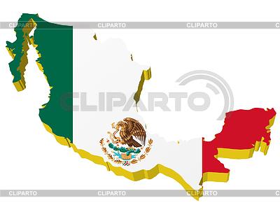 멕시코의 3 차원지도   벡터 클립 아트  ID 3244354