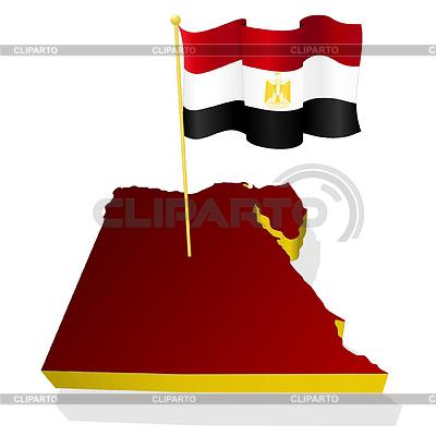 국기 이집트의 3 차원 이미지 맵 | 벡터 클립 아트 |ID 3247968