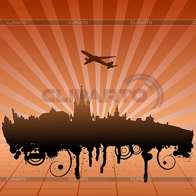 Urban landscape of Moscow | Stock Vector Graphics |ID 3248007
