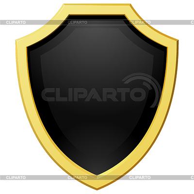 Złotą tarczę z ciemnym tle | Klipart wektorowy |ID 3266928