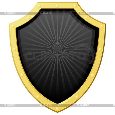 Schwarzes Schild mit einer Goldgrenze | Stock Vektorgrafik |ID 3266931