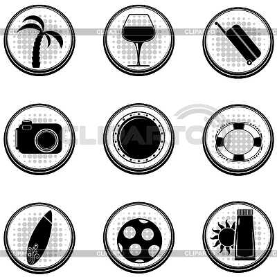 Set of black icons. | Stock Vector Graphics |ID 3370728