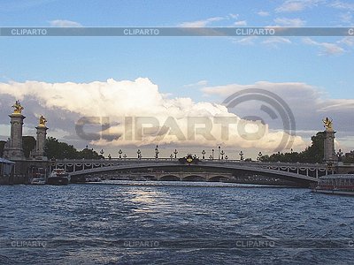 Alexandre III Most w Paryżu | Foto stockowe wysokiej rozdzielczości |ID 3155651