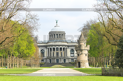 Fortress tower in park in Brussels | High resolution stock photo |ID 3245782