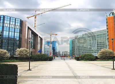 Neue Gebäude in Brüssel. Europäischer Parlaments, Belgien | Foto mit hoher Auflösung |ID 3320814
