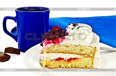 Ciasto w misce z kawą i czekoladą | Foto stockowe wysokiej rozdzielczości |ID 3214149