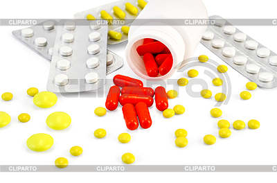 Kapsel rot mit Drogen | Foto mit hoher Auflösung |ID 3221589