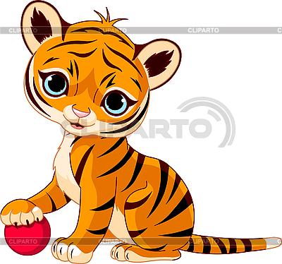 Cute tiger cub | Stock Vector Graphics |ID 3184762
