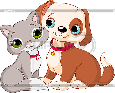 Cat and dog | Stock Vector Graphics |ID 3184783