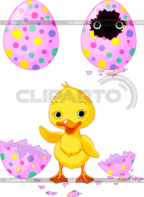 Easter duckling | Stock Vector Graphics |ID 3185750
