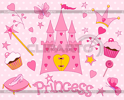 Princess Set | Stock Vector Graphics |ID 3187353