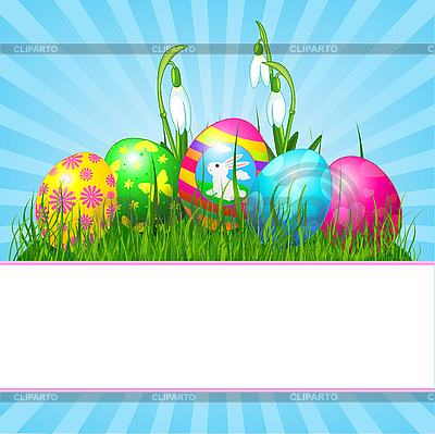 Easter eggs card | Stock Vector Graphics |ID 3192282