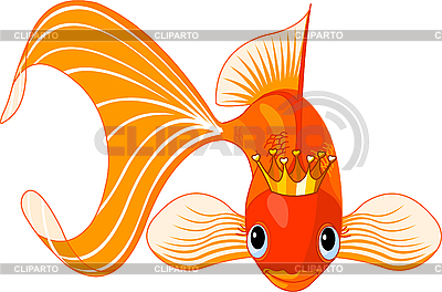 Cartoon Goldfish-Königin | Stock Vektorgrafik |ID 3196996