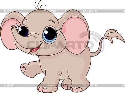 Cute baby elephant   Stock Vector Graphics  ID 3197014
