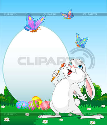 Painter bunny | Stock Vector Graphics |ID 3197163