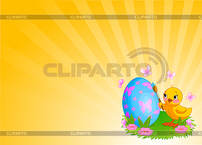 Chicken Painting Easter Egg Background | 벡터 클립 아트 |ID 3199642