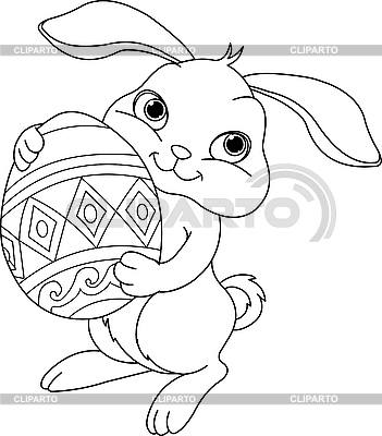 Easter bunny. Coloring page | Stock Vector Graphics |ID 3201162