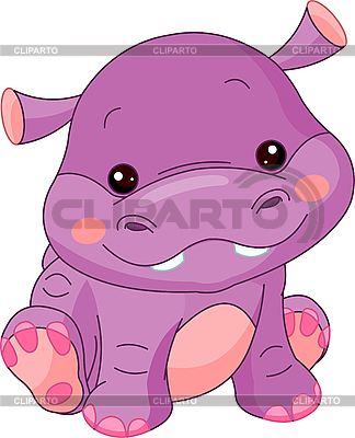 Funny Hippo | Stock Vector Graphics |ID 3205181