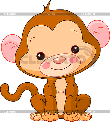 Funny Monkey | Stock Vector Graphics |ID 3205191