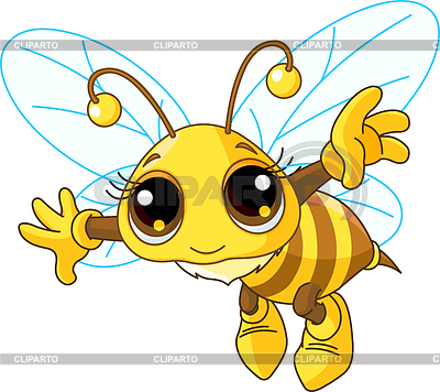 Cute Bee flying | Stock Vector Graphics |ID 3216113