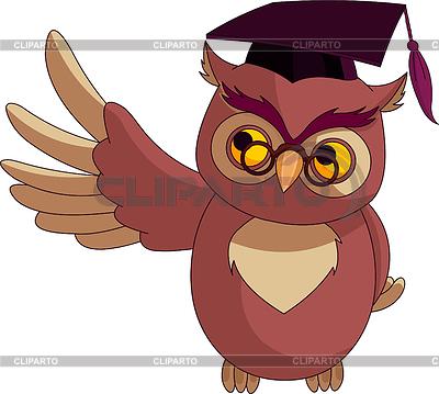 Cartoon Wise Owl with graduation cap | Stock Vector Graphics |ID 3226270