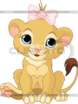 Lion girl cub | Stock Vector Graphics |ID 3227604