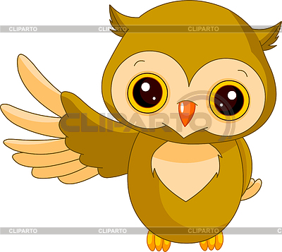 Funny Owl | Stock Vector Graphics |ID 3229515
