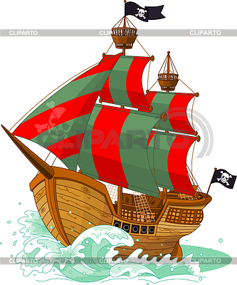 Pirate Ship | Stock Vector Graphics |ID 3296078