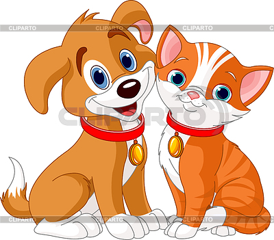 Cat and Dog | Stock Vector Graphics |ID 3311328