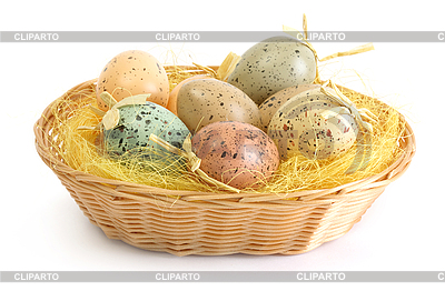 Easter eggs in basket | High resolution stock photo |ID 3187869