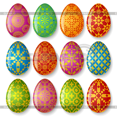 Set of easter eggs | Stock Vector Graphics |ID 3198091