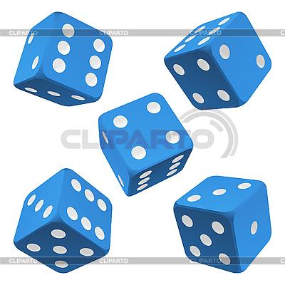 Blue dice set. icon | Stock Vector Graphics |ID 3198129