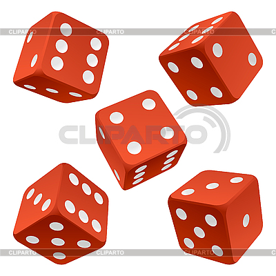 Red dice set | Stock Vector Graphics |ID 3198131