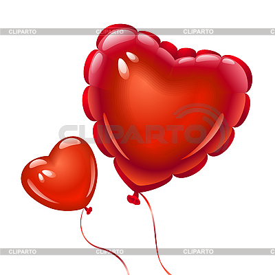 Balloons in the shape of heart | Stock Vector Graphics |ID 3198737