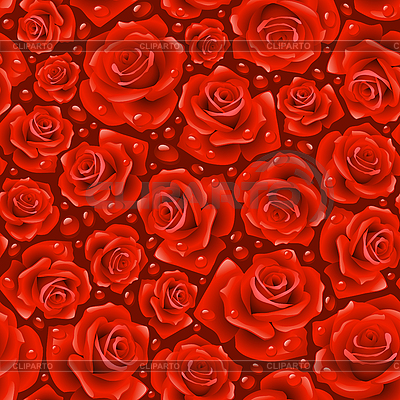 Red Rose seamless background | Stock Vector Graphics |ID 3200760