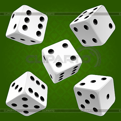 White dice set | Stock Vector Graphics |ID 3203696