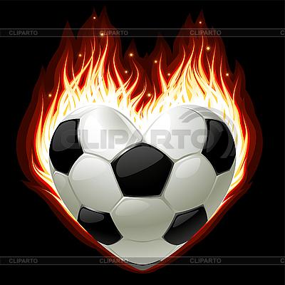 화재 심장의 모양에 축구 | 벡터 클립 아트 |ID 3203714
