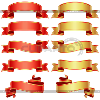 Red and golden banners set | Stock Vector Graphics |ID 3230131