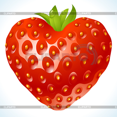 Strawberry in the shape of heart | Stock Vector Graphics |ID 3235596
