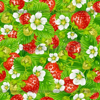 Nahtloser Hintergrund von Erdbeeren | Stock Vektorgrafik |ID 3235598