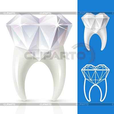 Teeth strong like diamond   Stock Vector Graphics  ID 3235649