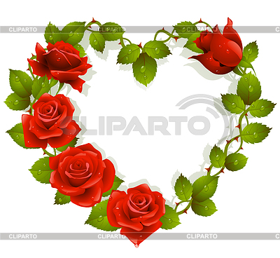Heart of red roses | Stock Vector Graphics |ID 3235836