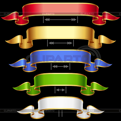 Ribbon set with adjusting length. | Stock Vector Graphics |ID 3271226