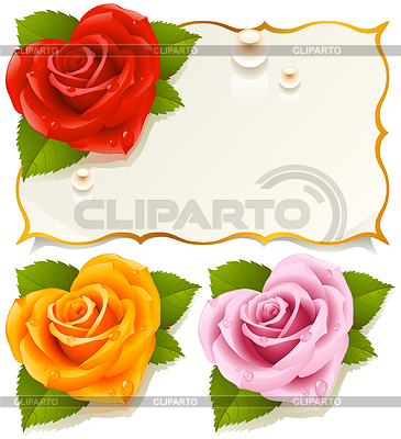 Greeting card with rose in the shape of heart | Stock Vector Graphics |ID 3279159
