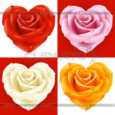 Roses in the shape of heart | Stock Vector Graphics |ID 3293896