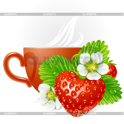 Strawberry in the shape of heart   Stock Vector Graphics  ID 3293926