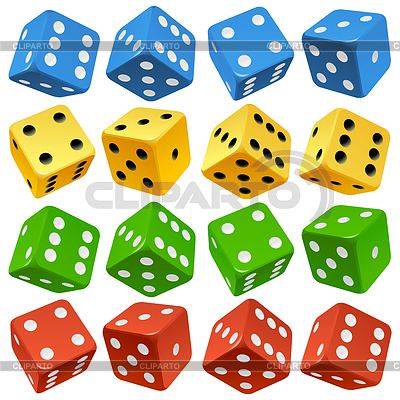 Game dice set | Stock Vector Graphics |ID 3350030