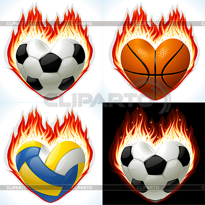 Football, basketball and volleyball - balls | Stock Vector Graphics |ID 3350034